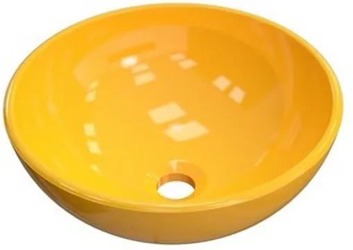 Cuba para Banheiro Redonda R35W Amarelo - Compace