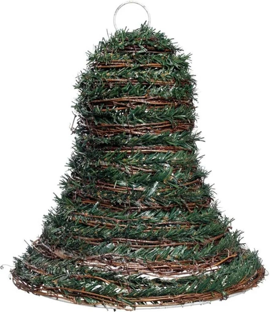 Sino Rústico DecoraçÁo Para Natal Com 1 Unidade Na Cor Verde