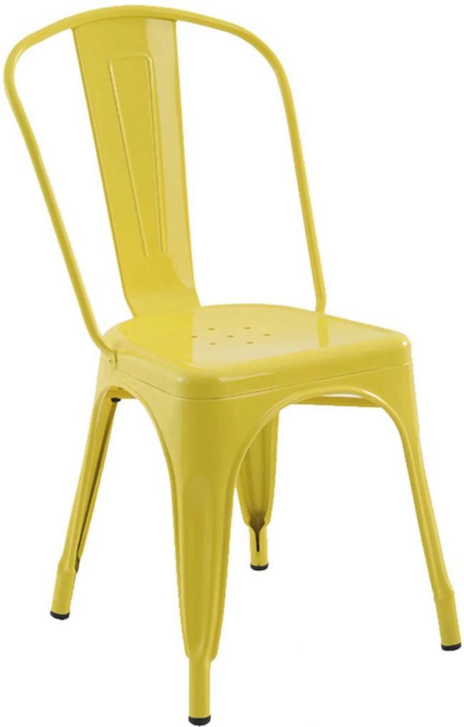 Cadeira Iron Sem Braços Amarela Rivatti