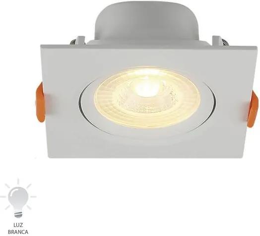 Spot de Embutir LED Quadrado 3W Bivolt Branco Frio 6500K - 80226004 - Blumenau - Blumenau