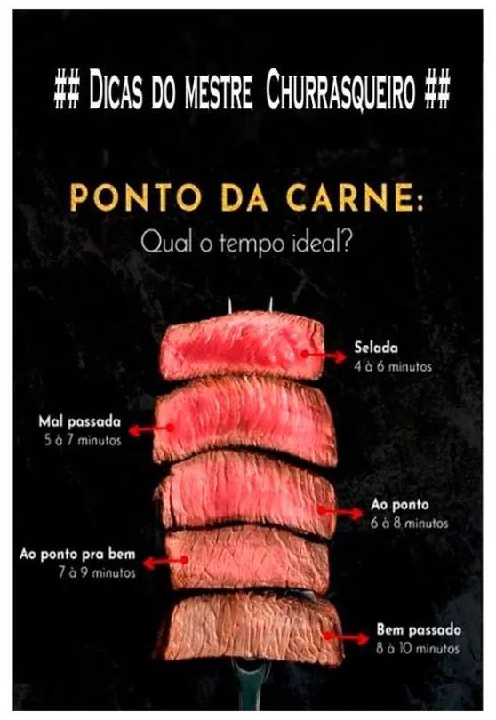 Quadro Decorativo Ponto da Carne - KF 46649 40x60 (Moldura 520)