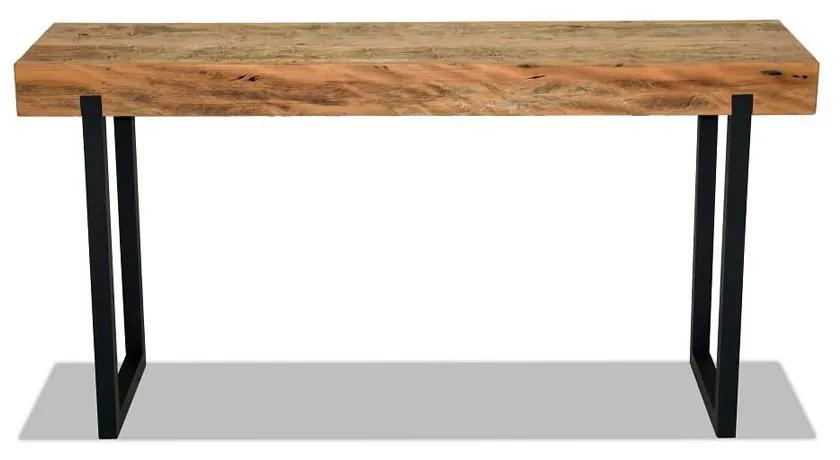Aparador Apache Tampo Peroba Rosa Demolição Base Alumínio Preto Eco Friendly Design Scaburi