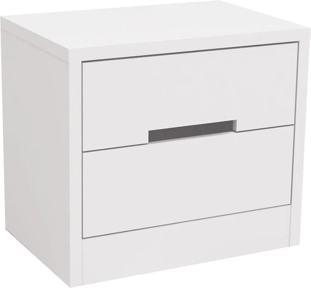 Mesa de Cabeceira 2 Gavetas Branco S822-BR Kappesberg
