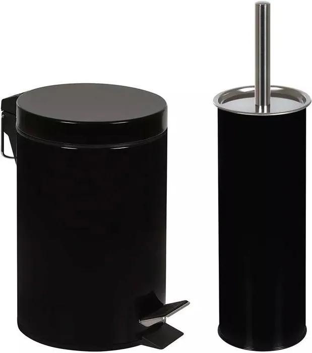 Conjunto Mor Ágata Lixeira 3 Litros e Escova de Higienização de Vaso Sanitário