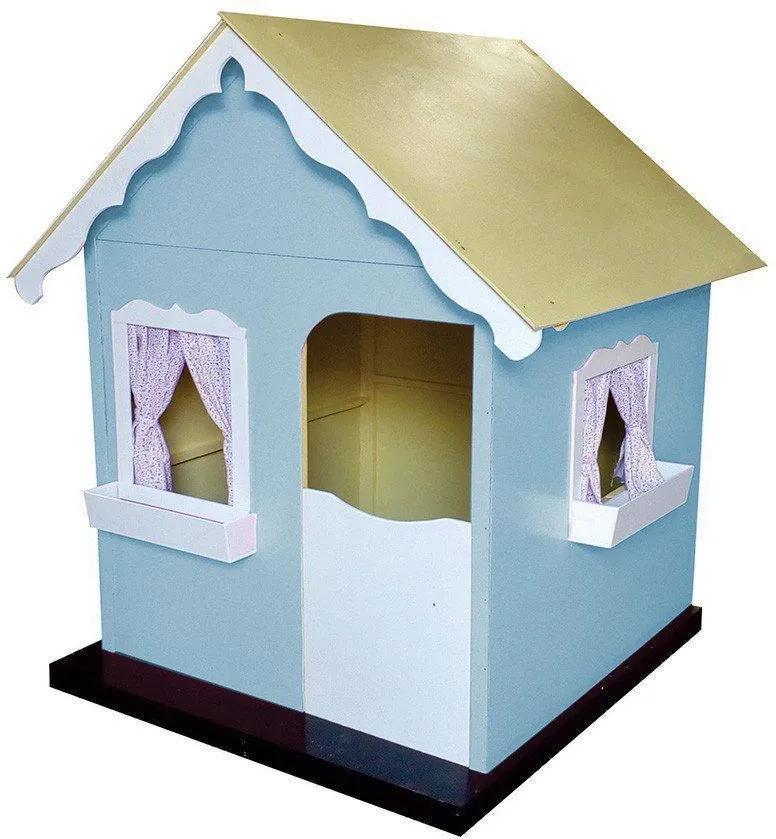 Casinha de Brinquedo Infantil Azul Bebê/Branco - Criança Feliz