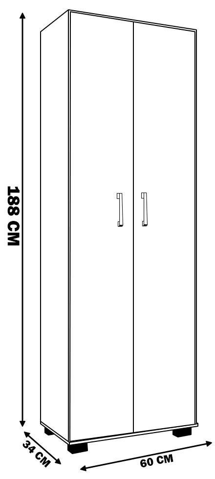 Estante de Livros para Escritório Home Office Portas Grandes Alf Preto Texturizado - Gran Belo