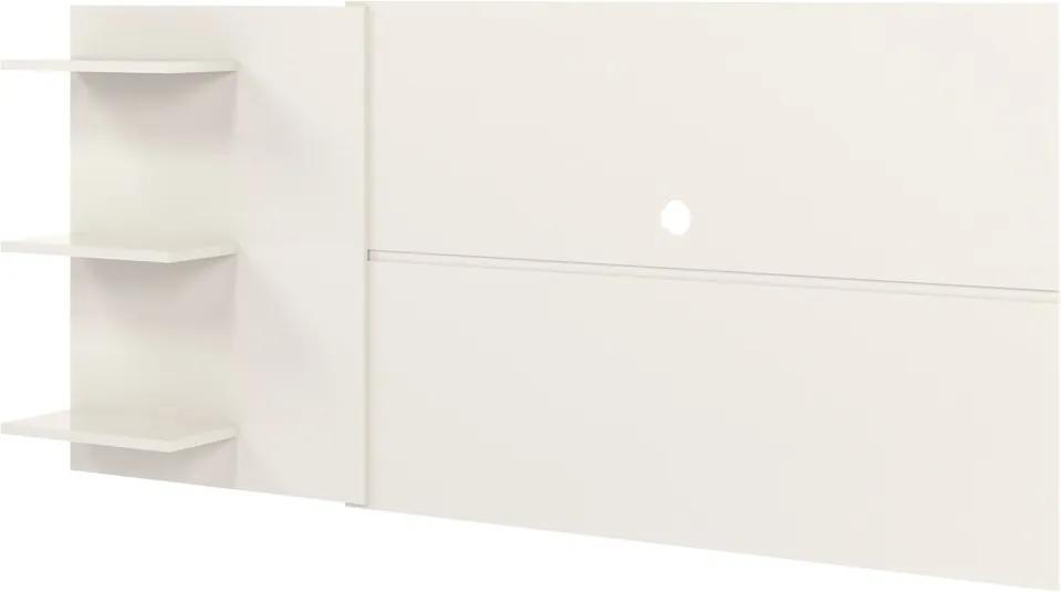 Painel para TV até 60'' Sala de Estar Caprica Off White - Gran Belo