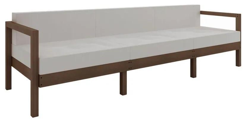 Sofá Componível Lazy 3 Lugares com Almofadas - Wood Prime MR 44004