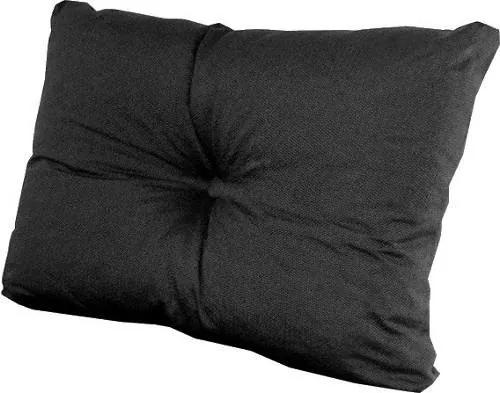 Almofada Travesseiro Com Botão Futon Capitonê 60X40 Suede Orthovida (Preto)