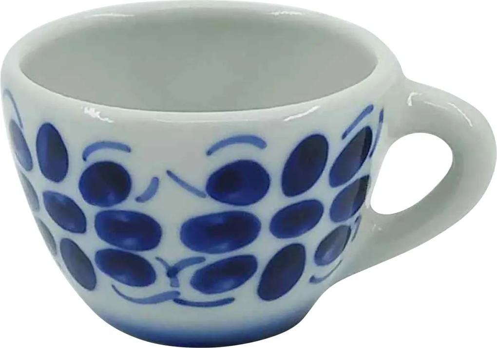 Xícara de Café em Porcelana Azul Colonial 50 ml