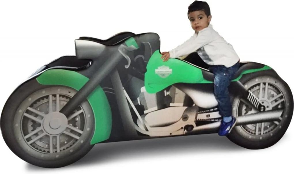 Cama Infantil Moto Chopper Verde