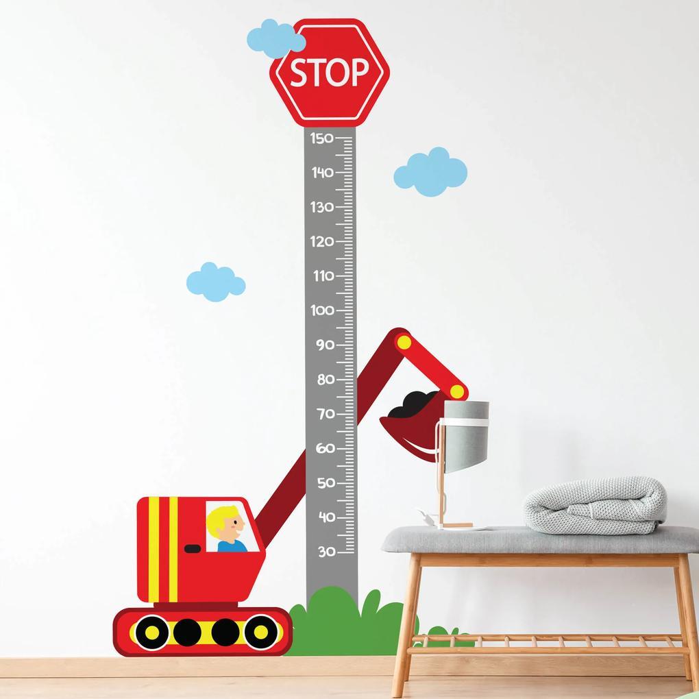 Adesivo de Parede Infantil Régua Carros na Cidade