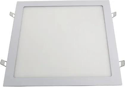 Plafon Led Embutir Quadrado Branco 24W Luz Branca 6000K