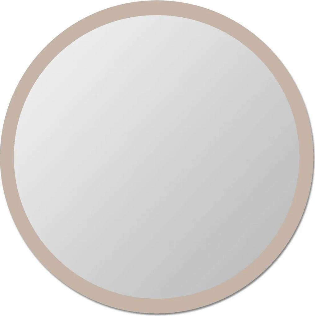 Espelho de parede redondo Edge - 130 borda Bege Vidrotec