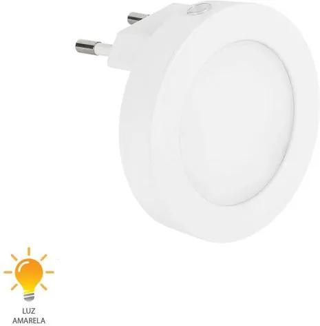 Luz Noturna Redonda Lisa 5W Bivolt Branco Quente 3000K - 51053004 - Blumenau - Blumenau
