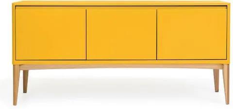 Buffet Oslo Estrutura Natural Acabamento Amarelo 160cm - 60890 Sun House