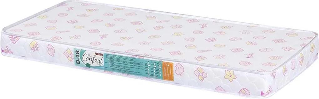 Colchão Para Berço Pro Confort Baby D18 Rosa Liso 60X130X10 Hellen Suzan