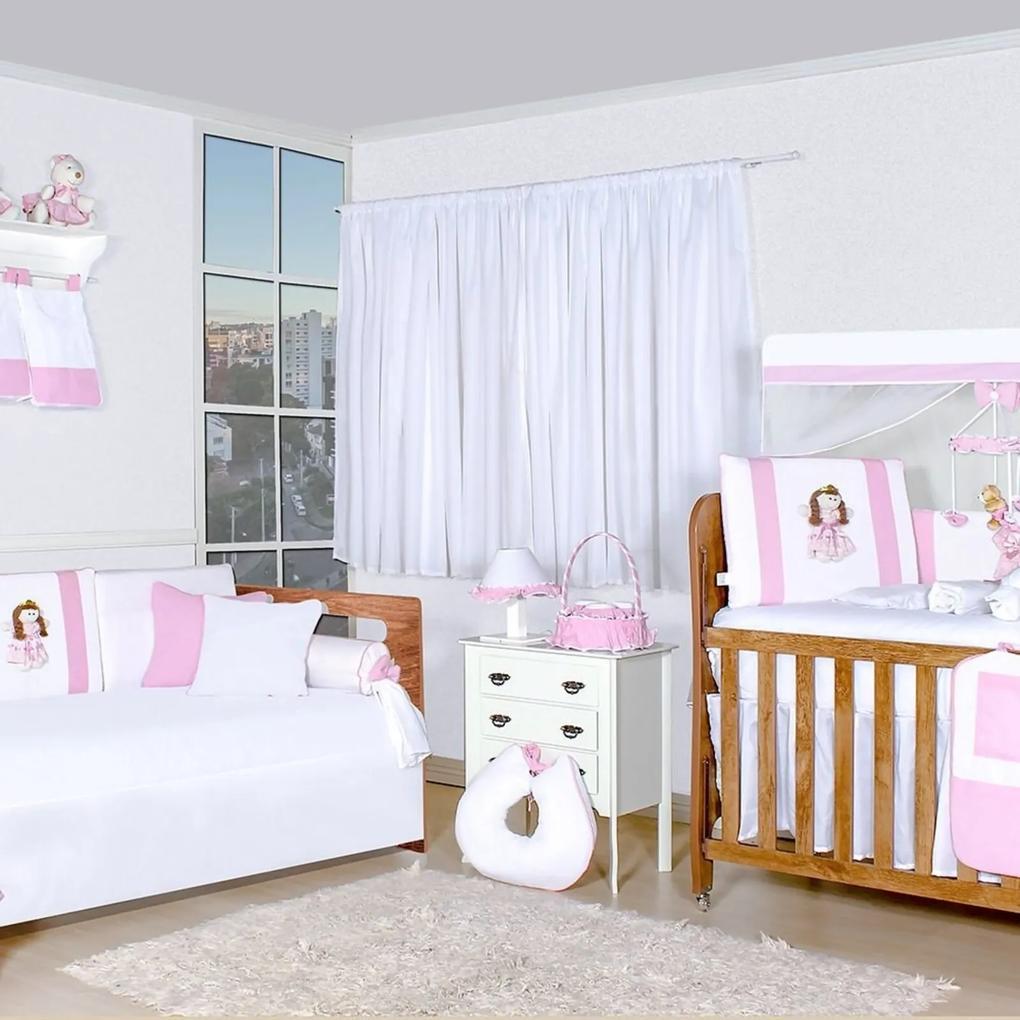 Quarto Completo Padroeira Baby Princesa Lays Rosa