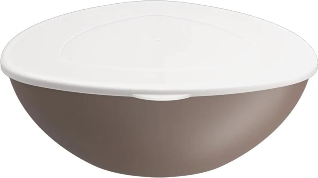 Saladeira Coza Essential com tampa  - Warm Gray