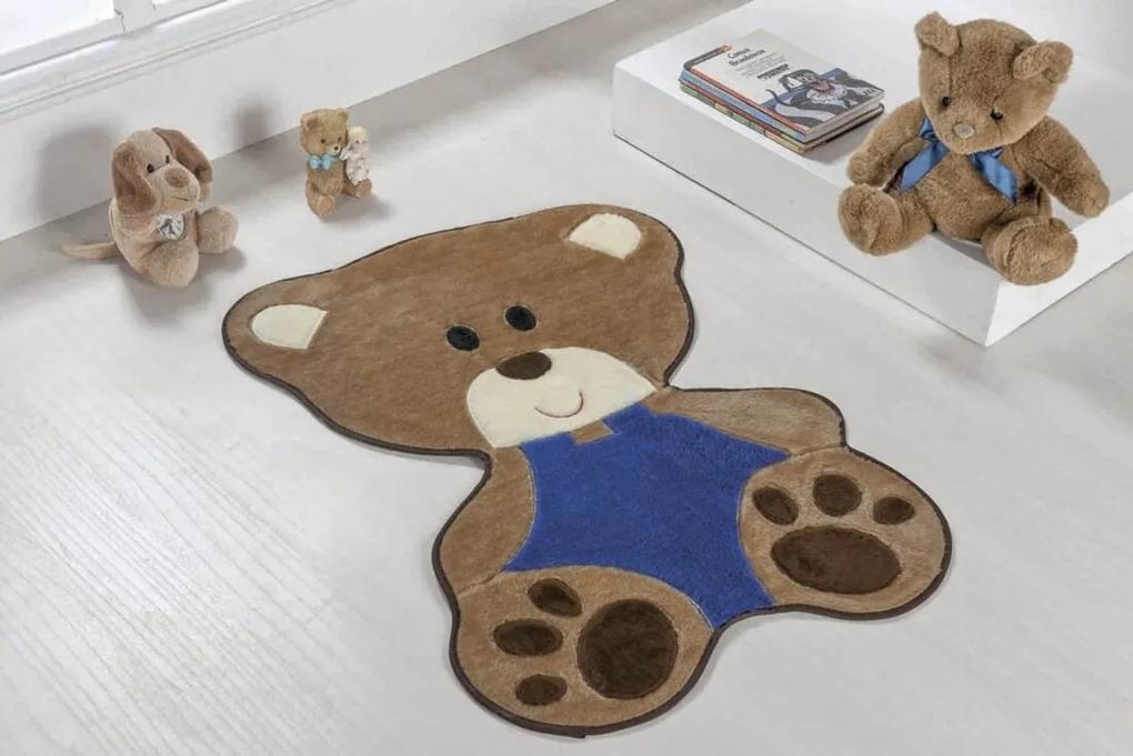 Tapete Guga Tapetes Formato Bebe Urso Azul Royal