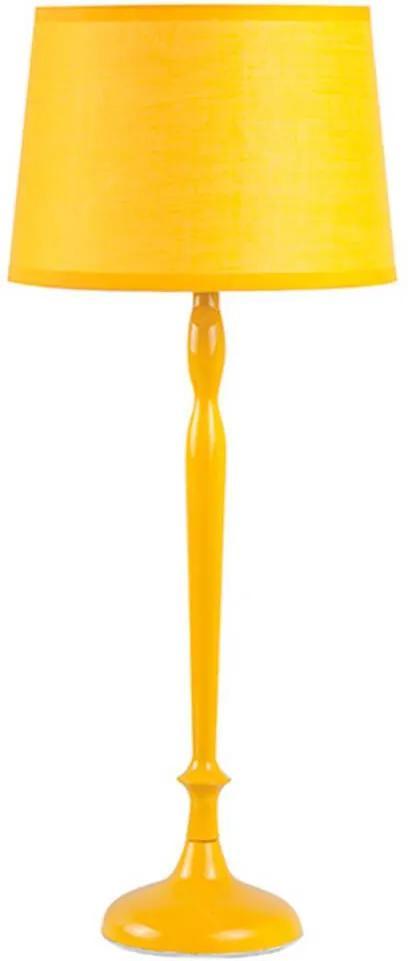 Luminária de Mesa Skiny Base Amarela em Metal - Urban - 48,5x20