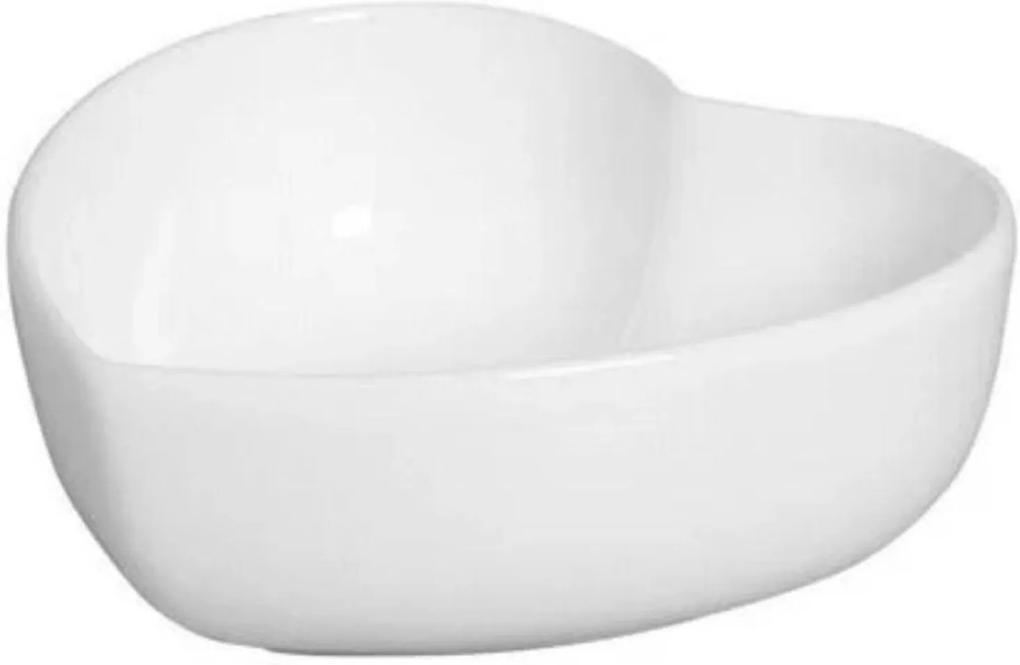Bowl Coração em Cerâmica 13x12cm Branco – Silveira