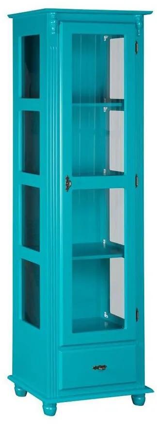 Cristaleira com Porta e Lateral de Vidro com Gaveta - Wood Prime MY 907426