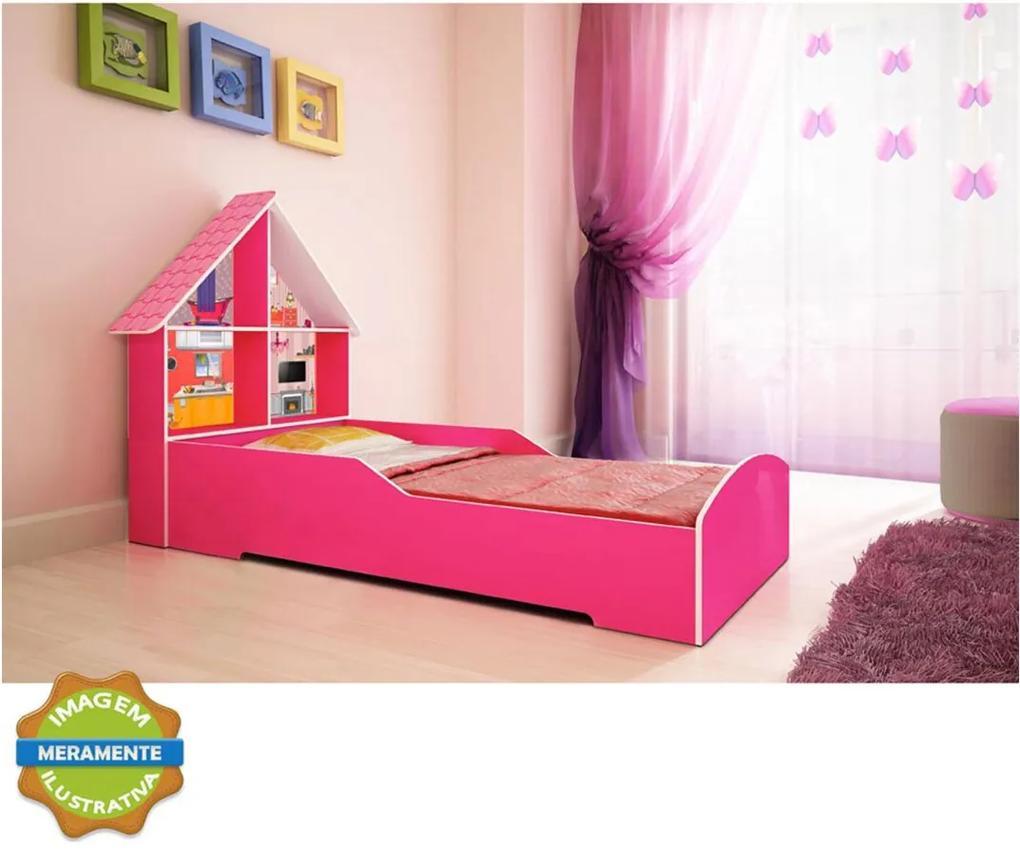 Cama Casinha Pink Ploc Gelius Rosa