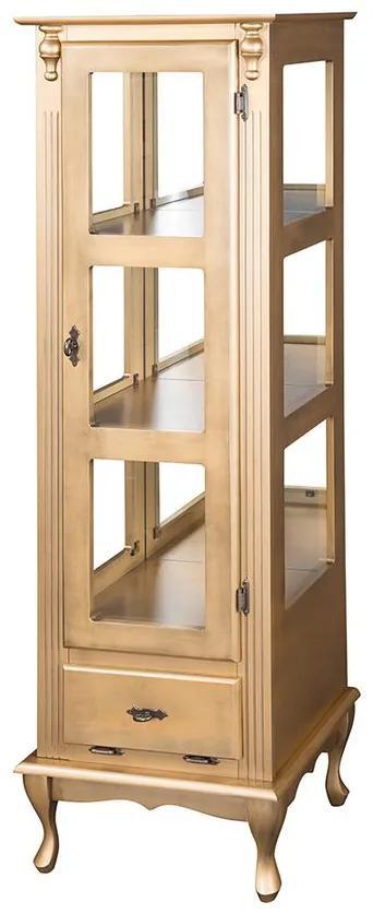 Vitrine com Porta de Vidro e Espelho Gaveta Basculante - Wood Prime MY 907345