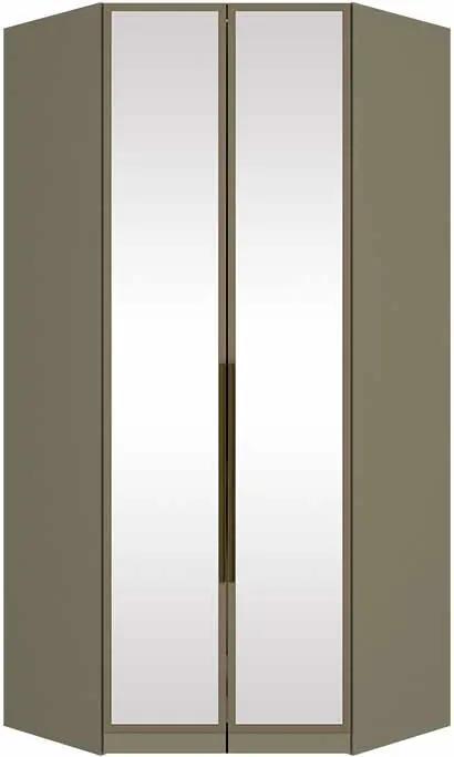 Guarda Roupas Canto Closet Exclusive 100% MDF 2 Portas com Espelho LED Duna Cristal