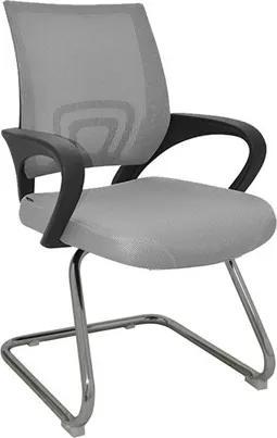 Cadeira Office Monumental Fixa em Tela Mesh Cinza