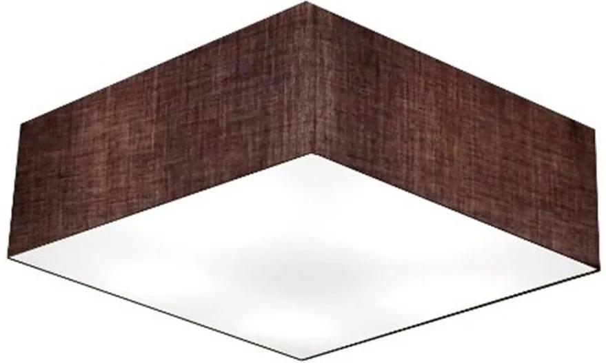 Plafon Quadrado Md-3051 Cúpula em Tecido 15/45x45cm Café - Bivolt