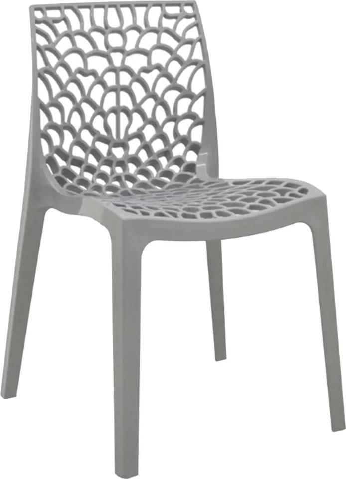 Cadeira Decorativa Sala e Cozinha Cruzzer (PP) Cinza - Gran Belo