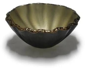 Bowl Lírio 26 cm Dourado Fosco Regina Medeiros