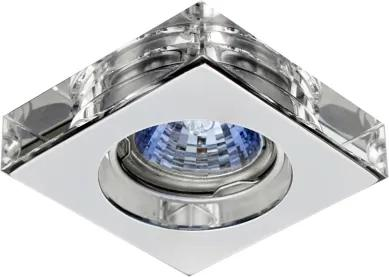 spot embutido SHINE 1x dicróica 6cm cristal quadrado BELLA YD755A
