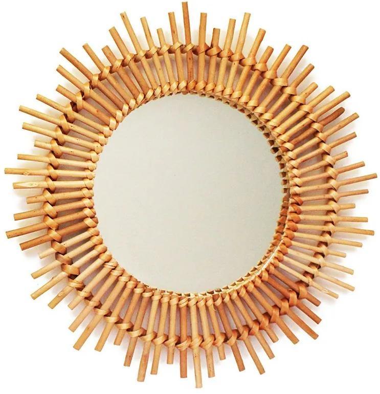 Espelho de vime boho sol