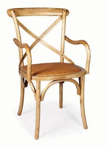 Cadeira Juárez Importada C/Braço em Madeira Maciça