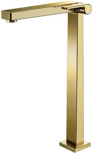 Torneira para Banheiro Mesa  Stillo 90° Ouro Polido Bica Alta - Docol - Docol