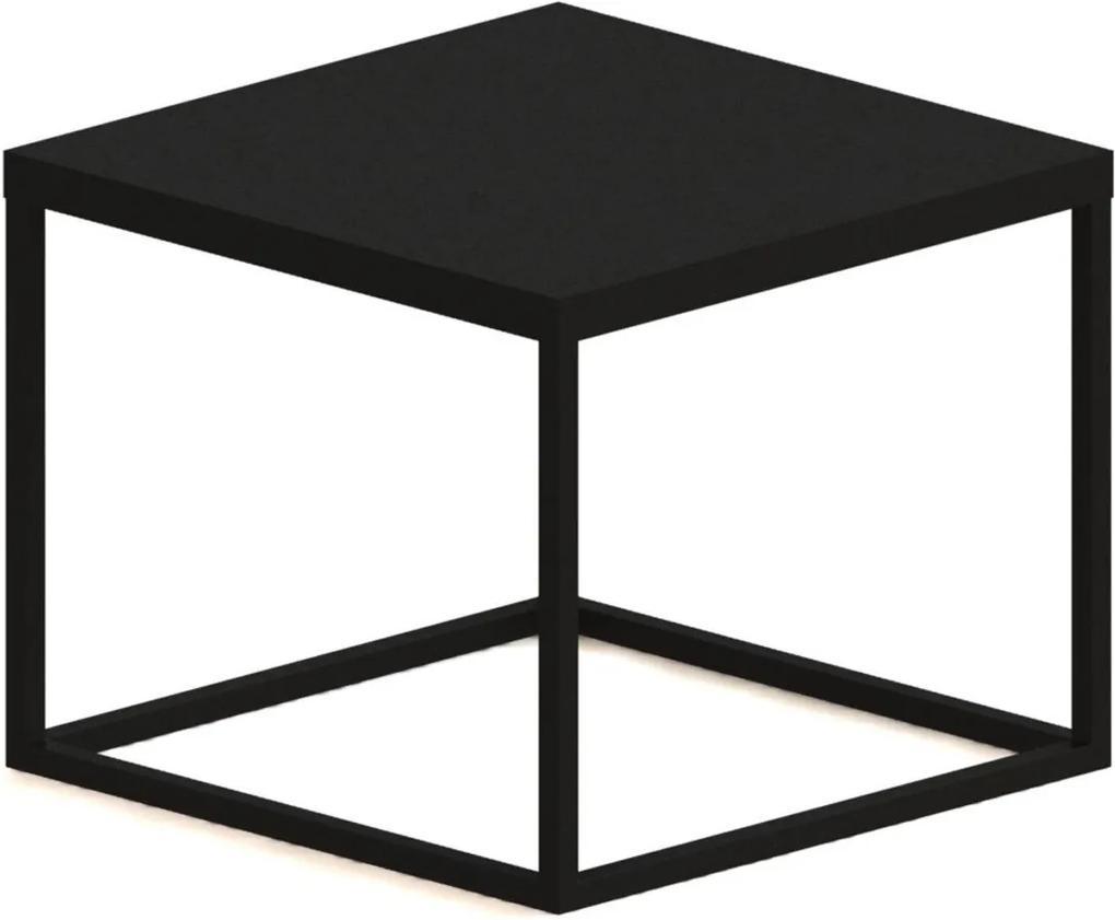 Mesa Cube P Preto Artesano