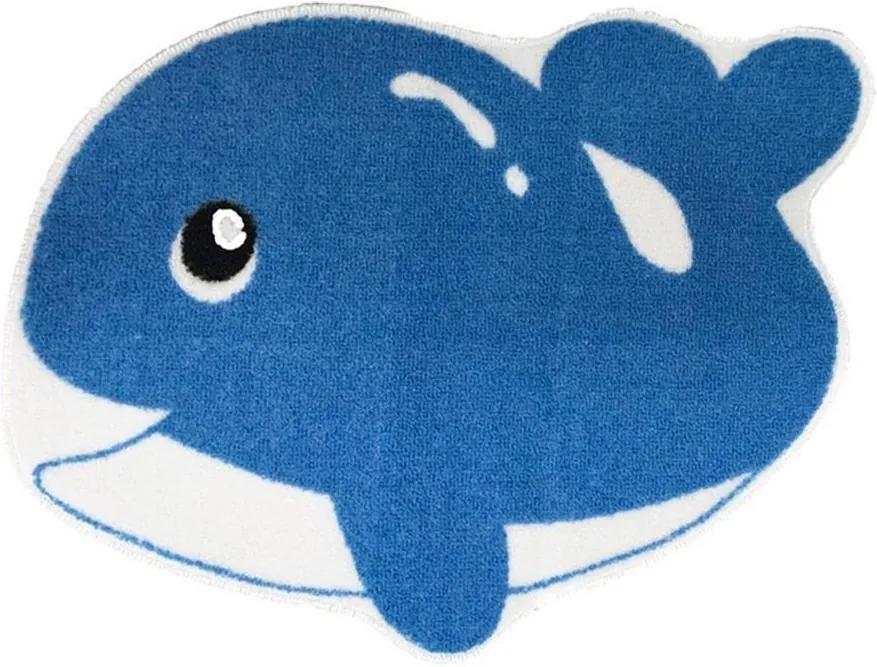 Tapete Infantil Baleia 52x42cm Azul