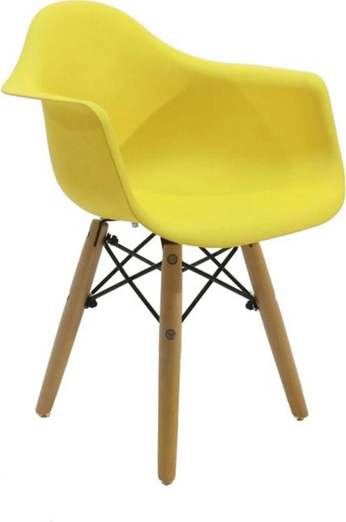 Cadeira Dar Eames Kids Amarela Byartdesign