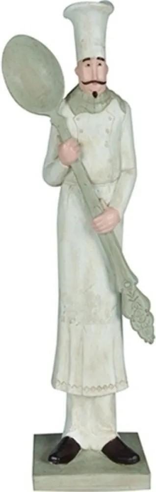 escultura O COZINHEIRO resina 30cm Ilunato QC0312