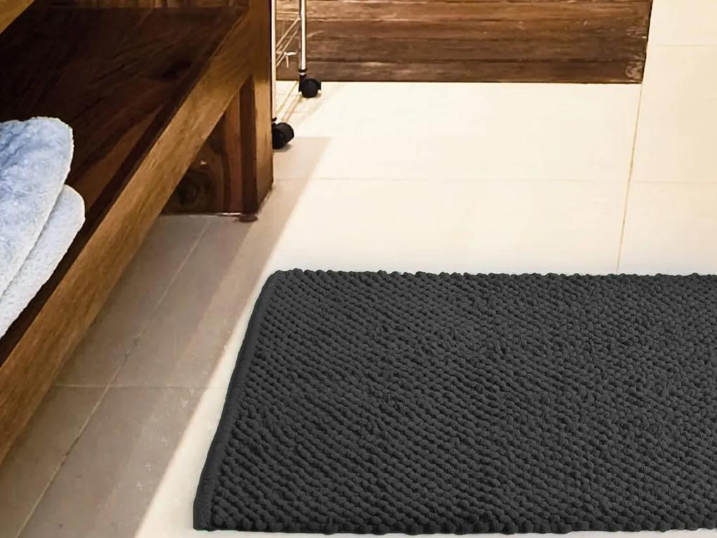 Tapete para Banheiro Antiderrapante Micropop 60 x 40cm Cinza