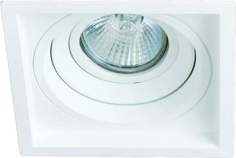 Plafon Embutir Aluminio Injetado Branco Recuado