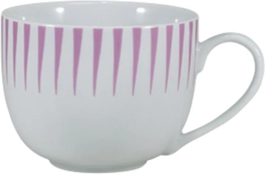 Xícara Chá com Pires 200 ml Porcelana Schmidt - Dec. Sol Rosa