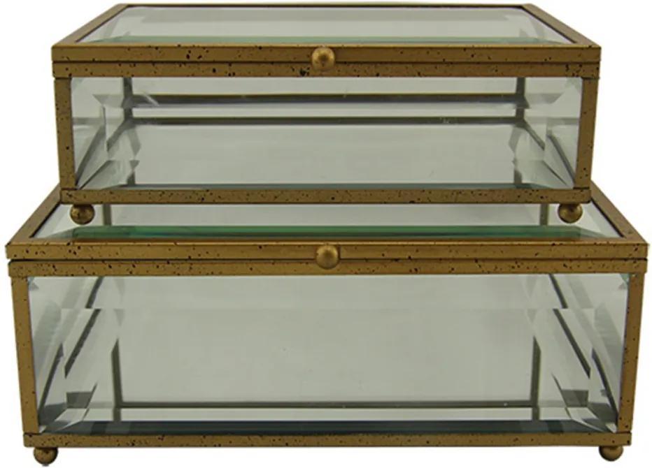 caixa de vidro VITRINE 2pçs Ilunato WN0004