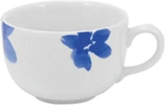 Xícara Café com Pires 80 ml Porcelana Schmidt - Dec. Elisa