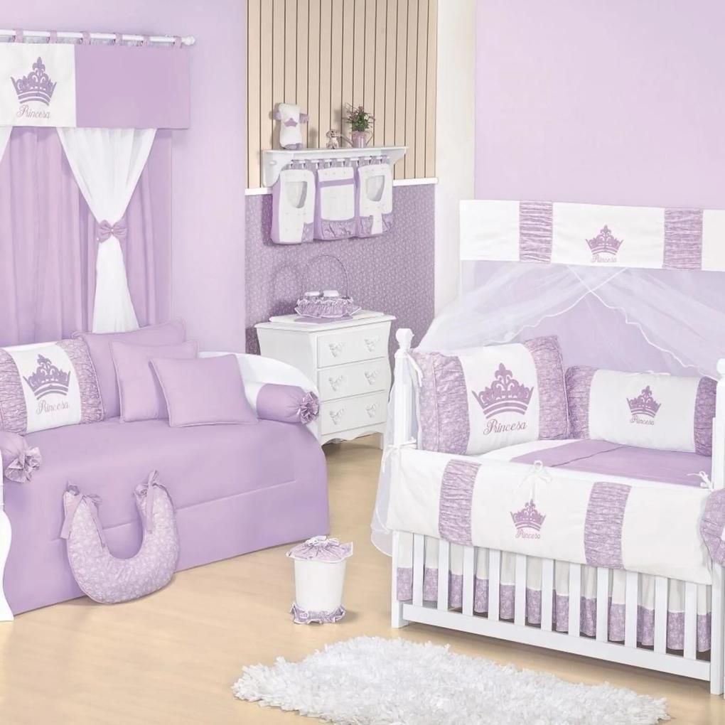 Quarto Para Bebê Padroeira Baby Princesinha - Lilás