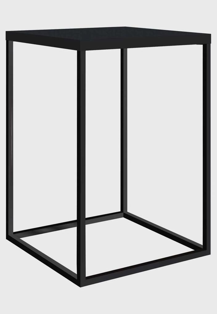 Mesa Quadrada Cube G Preto/Preto Artesano