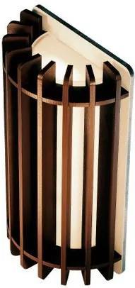 Arandela de Madeira Grega  cor: Marrom Tabaco   Soq: G9   Tam: 32x18